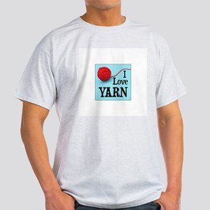 I Love Yarn Ash Grey T-Shirt