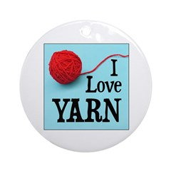 I Love Yarn Ornament (Round)