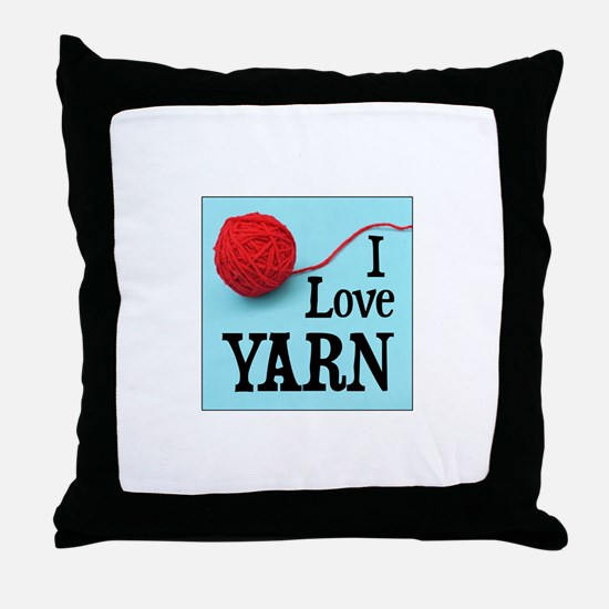 I Love Yarn Throw Pillow