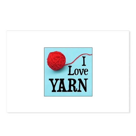 I Love Yarn Postcards (Package of 8)