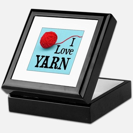 I Love Yarn Keepsake Box
