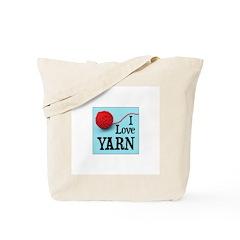 I Love Yarn Tote Bag