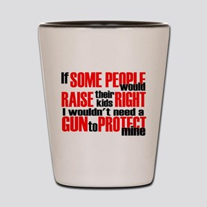 Gun Protect Children Shot Glass
