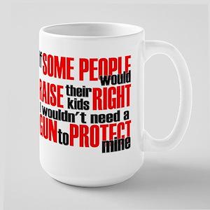 Gun Protect Children Large Mug