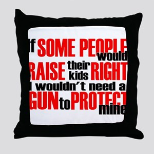 Gun Protect Children Throw Pillow