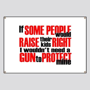 Gun Protect Children Banner