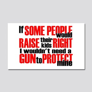 Gun Protect Children Car Magnet 20 x 12