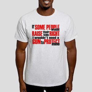 Gun Protect Children Light T-Shirt