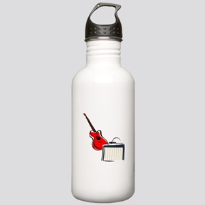 stylized guitar amp red. Water Bottle