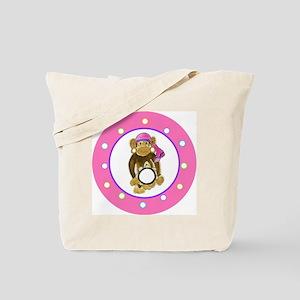 Gypsy Monkey Polka Dots Tote Bag