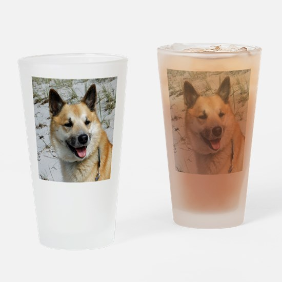 IcelandicSheepdog002 Drinking Glass