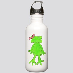 Froggy Pink bow Stainless Water Bottle 1.0L