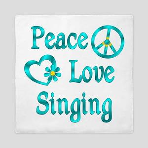 Peace Love Singing Queen Duvet