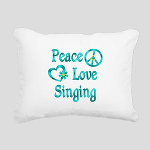 Peace Love Singing Rectangular Canvas Pillow