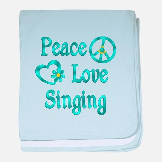 Peace Love Singing baby blanket