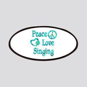 Peace Love Singing Patches
