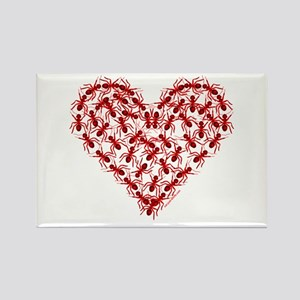 Red Ants Heart Rectangle Magnet
