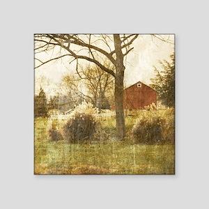 """rustic farm cabin Square Sticker 3"""" x 3"""""""