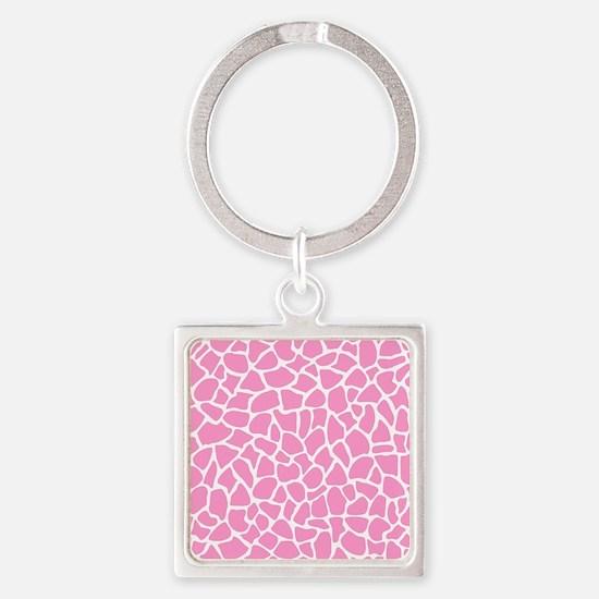 Pink Giraffe Pattern Keychains