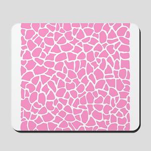 Pink Giraffe Pattern Mousepad