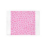 Pink giraffe pattern Area Rugs