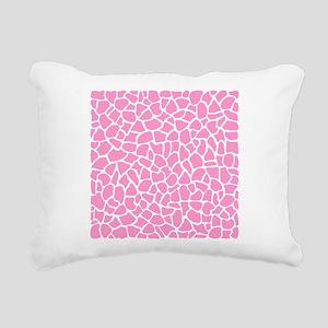Pink Giraffe Pattern Rectangular Canvas Pillow