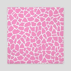 Pink Giraffe Pattern Queen Duvet