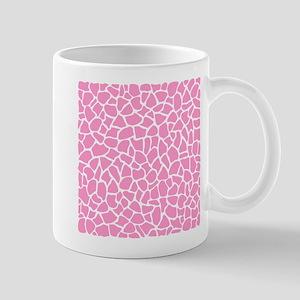 Pink Giraffe Pattern Mugs