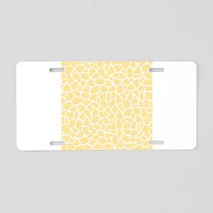 Giraffe Pattern in Yellow Aluminum License Plate