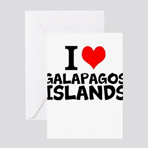 I Love Galápagos Islands Greeting Cards
