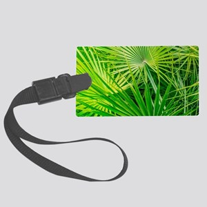 Fan Palm Forest Large Luggage Tag