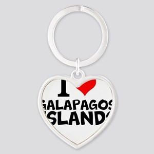 I Love Galápagos Islands Keychains