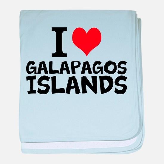 I Love Galápagos Islands baby blanket