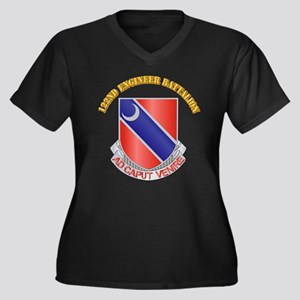 DUI - 122nd Engineer Bn w Text Women's Plus Size V