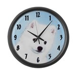 American Eskimo Dog Large Wall Clock