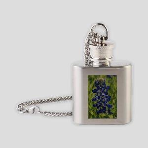 Texas Bluebonnet Flask Necklace