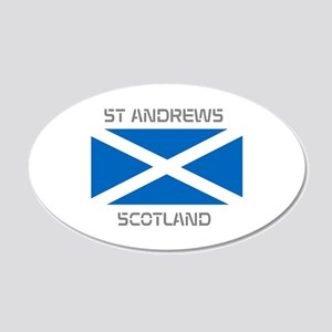 St Andrews Scotland 20x12 Oval Wall Decal