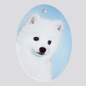 American Eskimo Dog Oval Ornament