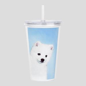 American Eskimo Dog Acrylic Double-wall Tumbler