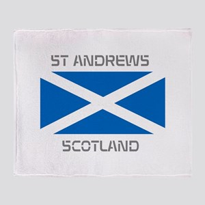 St Andrews Scotland Throw Blanket