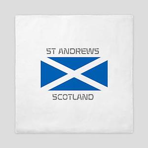 St Andrews Scotland Queen Duvet