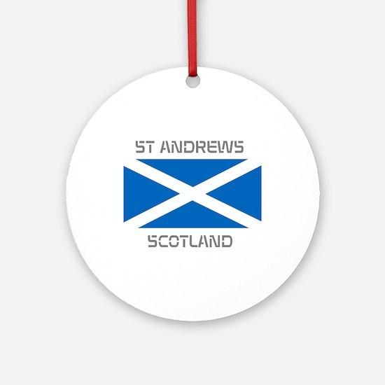 St Andrews Scotland Ornament (Round)