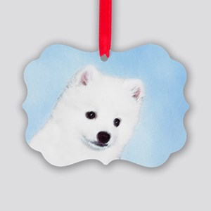 American Eskimo Dog Picture Ornament