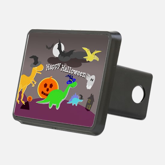 Happy Halloween Dinosaurs Kids Hitch Cover