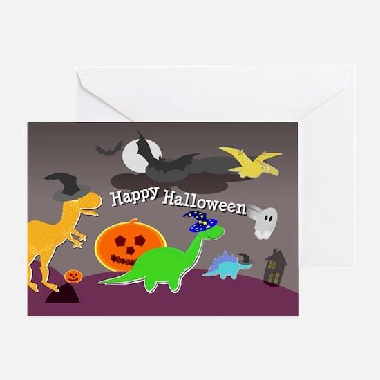 Happy Halloween Dinosaurs Kids Greeting Cards