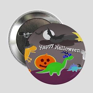 "Happy Halloween Dinosaurs Kids 2.25"" Button"