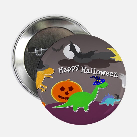 "Happy Halloween Dinosaurs Kids 2.25"" Button"