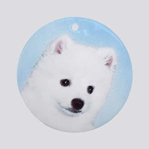 American Eskimo Dog Round Ornament