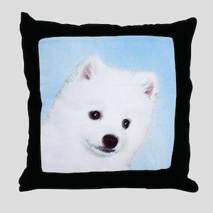 American Eskimo Dog Throw Pillow