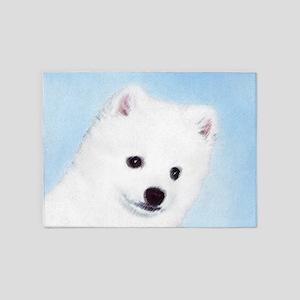 American Eskimo Dog 5'x7'Area Rug